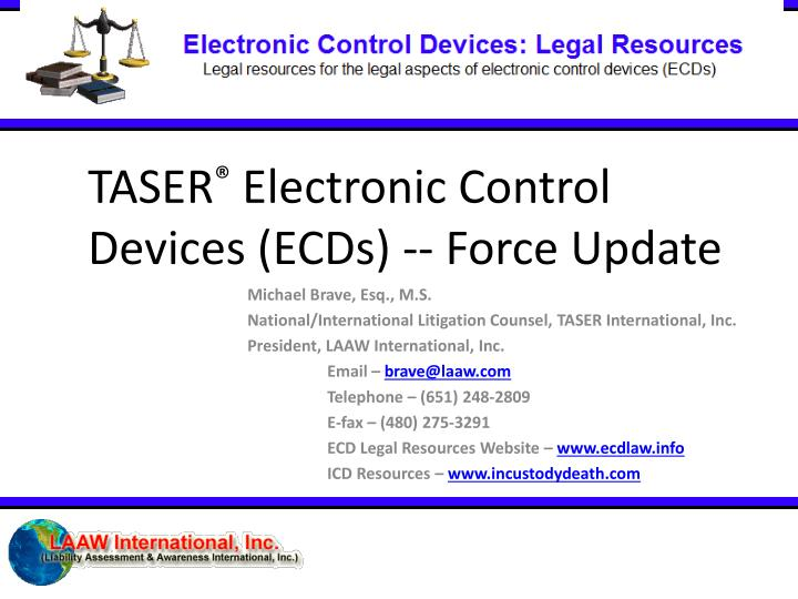 taser electronic control devices ecds force update n.