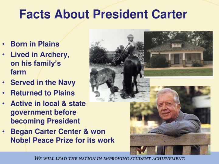 Facts about president carter