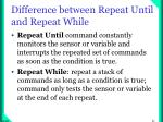 difference between repeat until and repeat while