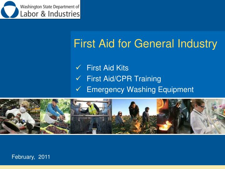 first aid for general industry n.