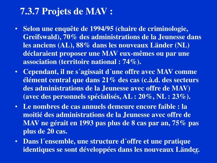 7.3.7Projets de MAV :