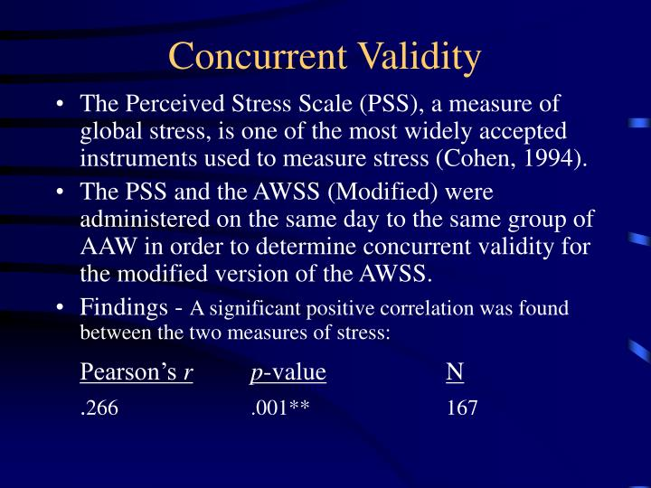 the concurrent validity of money metaphor 425 concurrent validity: (coaley, 2010) explanation of concurrent validity is the same as (foxcroft, 2009) because they both indicate the accuracy with which a measure can identify or diagnose the current behaviour or status regarding specific skills or characteristics of an individual.