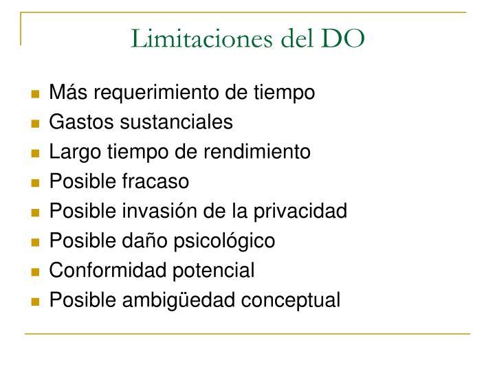 Limitaciones del DO