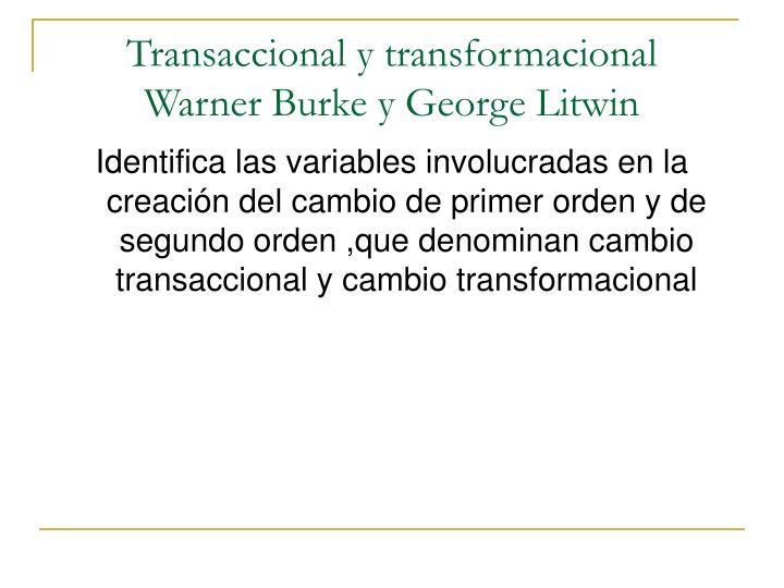 Transaccional y transformacional