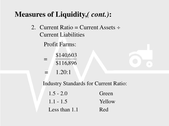 Industry Standards for Current Ratio: