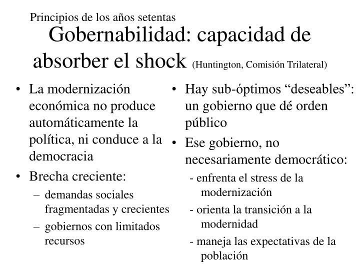 La modernización económica no produce automáticamente la política, ni conduce a la democracia