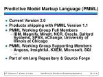predictive model markup language pmml