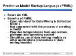 predictive model markup language pmml1