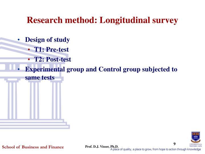Research method: Longitudinal survey
