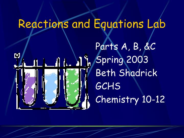 reactions and equations lab n.