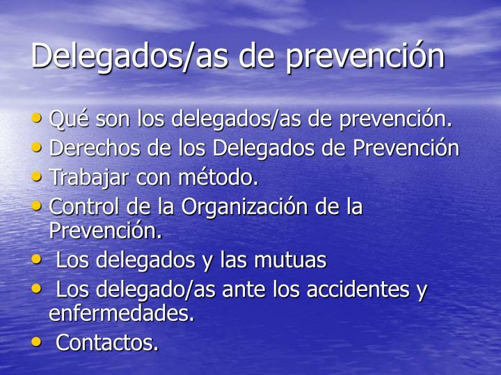 Delegados/as de prevención