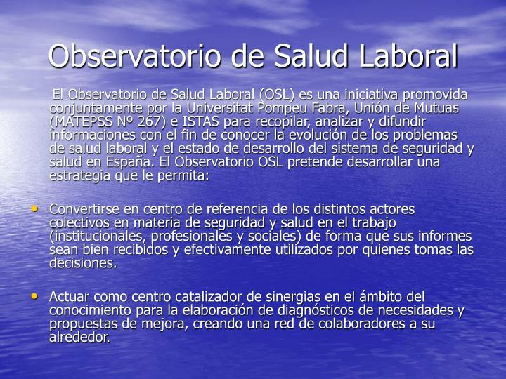 Observatorio de Salud Laboral