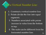 add a vertical number line