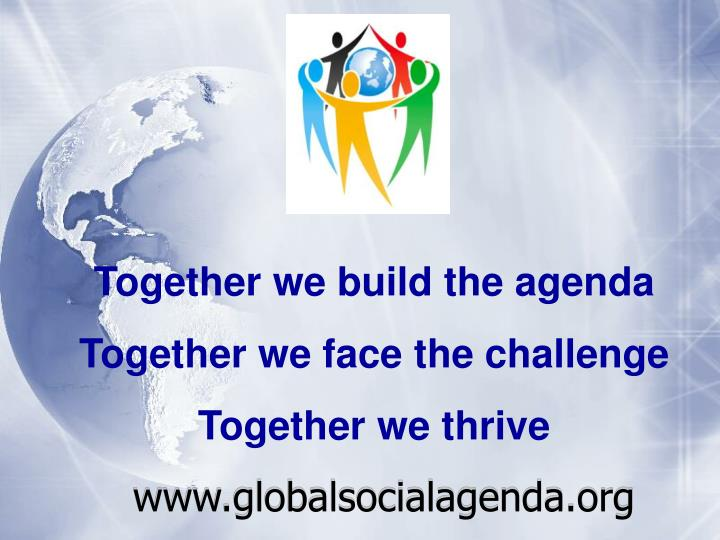 Together we build the agenda