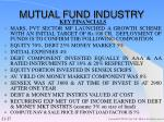 mutual fund industry27