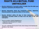 rights as a mutual fund unitholder