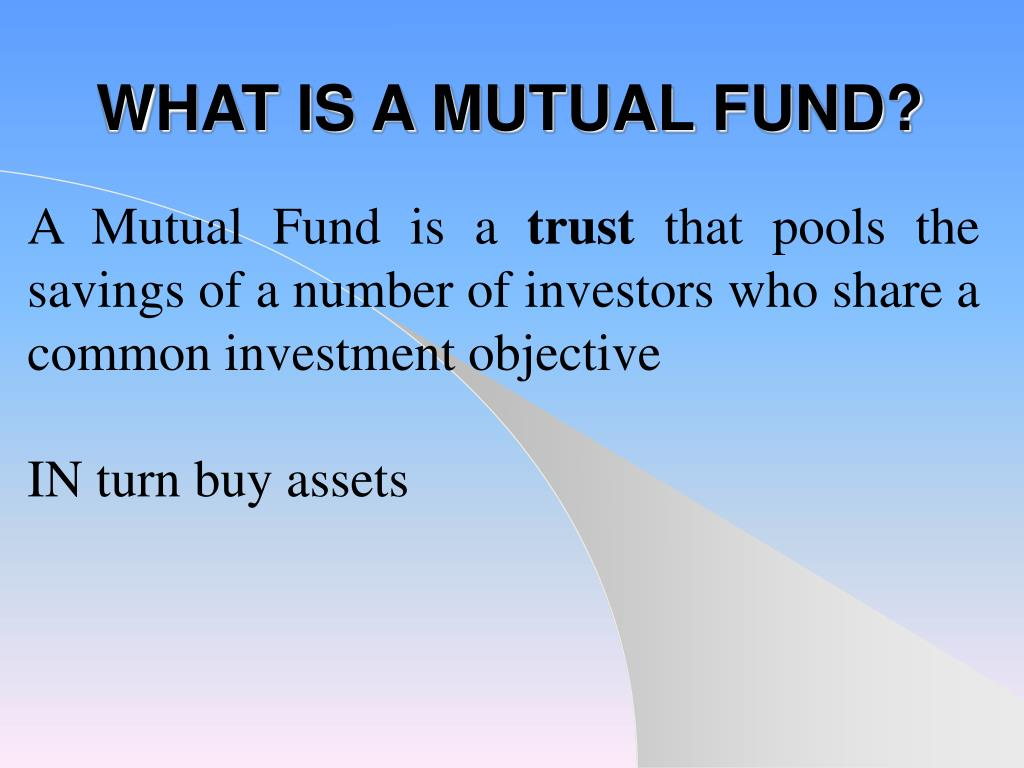 what is a mutual fund l.
