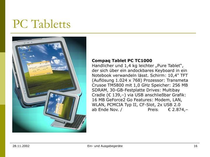 PC Tabletts
