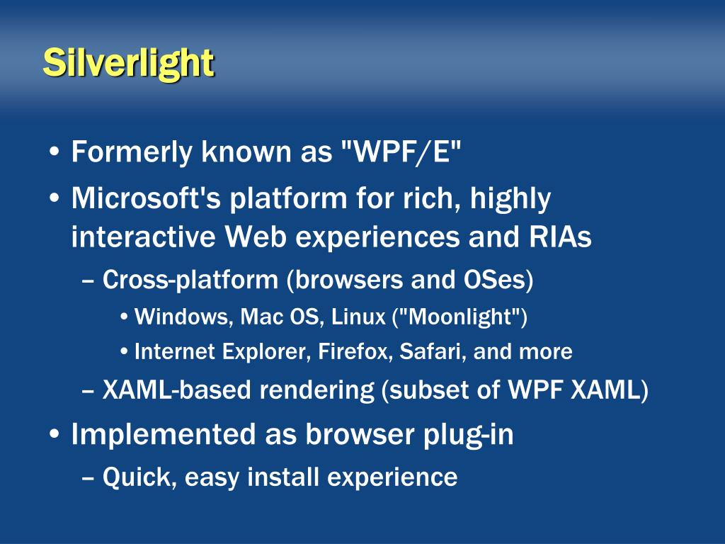 PPT - Introducing Silverlight 2 PowerPoint Presentation - ID
