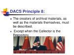 dacs principle 8
