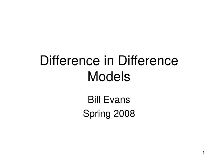 difference in difference models n.