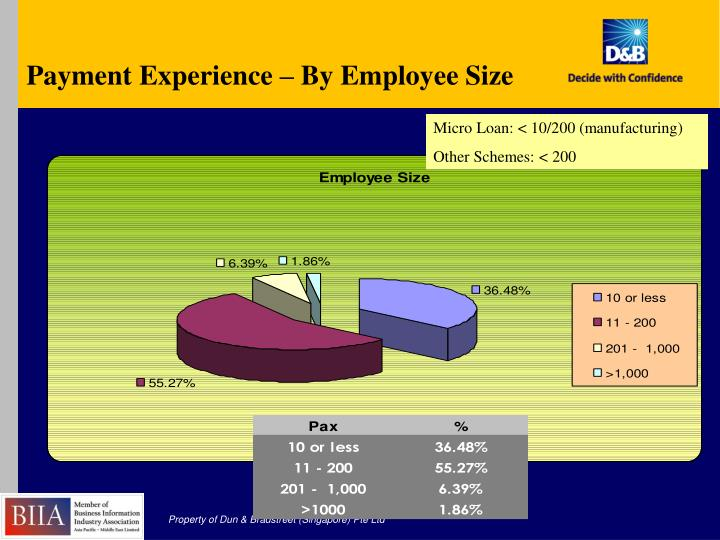 Payment Experience – By Employee Size