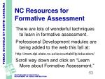 nc resources for formative assessment