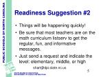 readiness suggestion 2