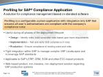 profiling for sap compliance application