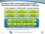 profiling for sap smartly supports the transition phase from as is into an optimized sap landscape