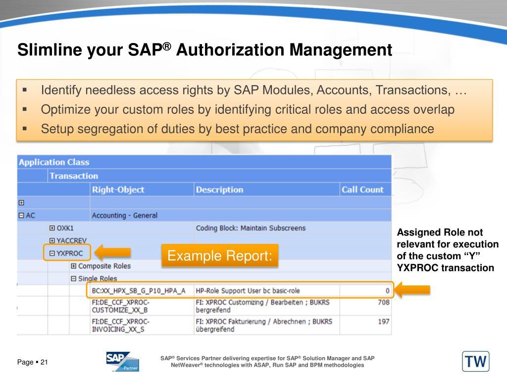 Slimline your SAP