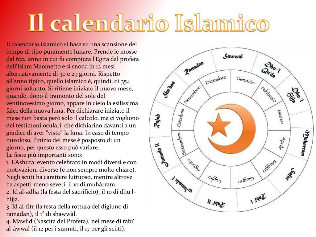 Calendario Islamico.Ppt Presentazione Powerpoint Presentation Id 86631