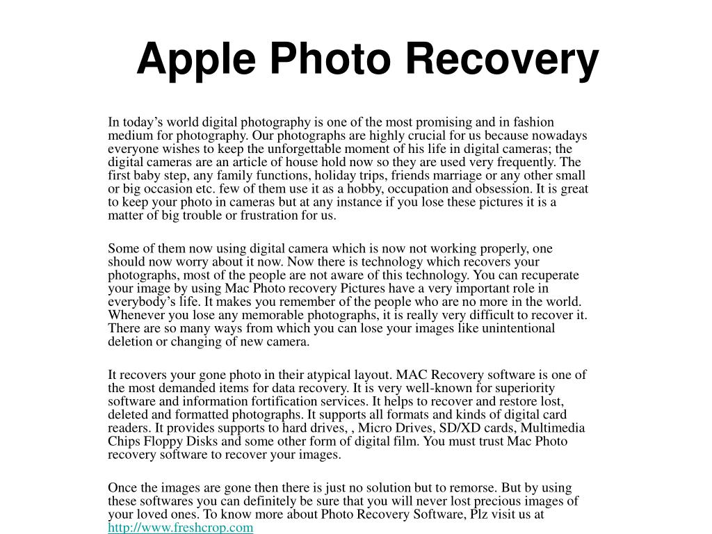 apple photo recovery l.