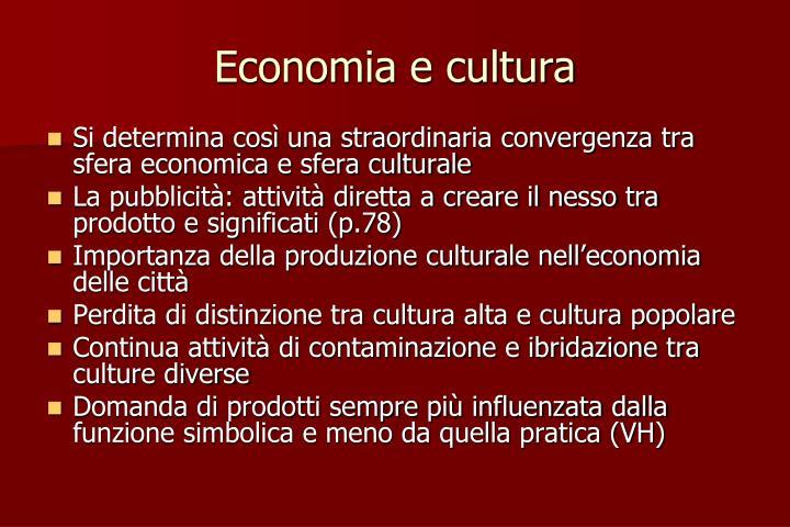 Economia e cultura