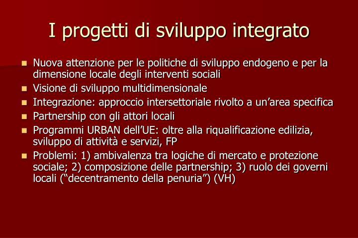 I progetti di sviluppo integrato