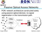 passive optical access networks