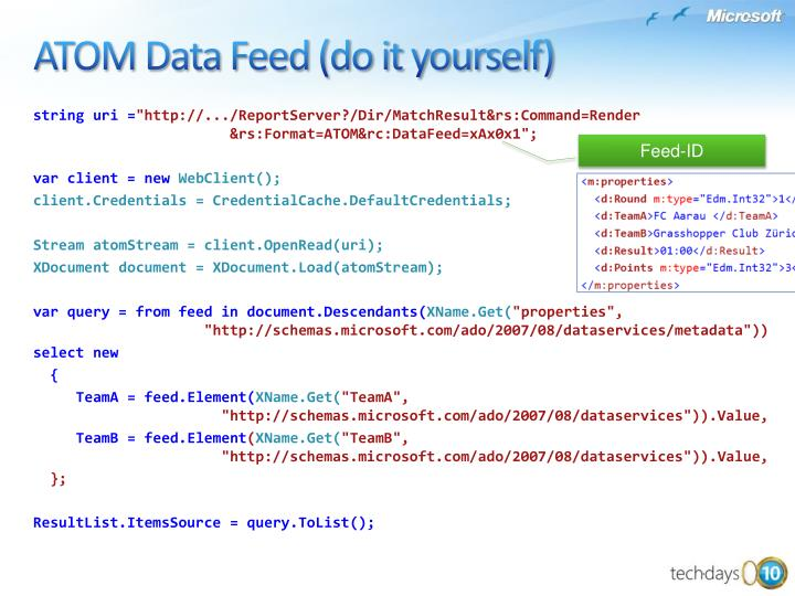 ATOM Data Feed (do it yourself)