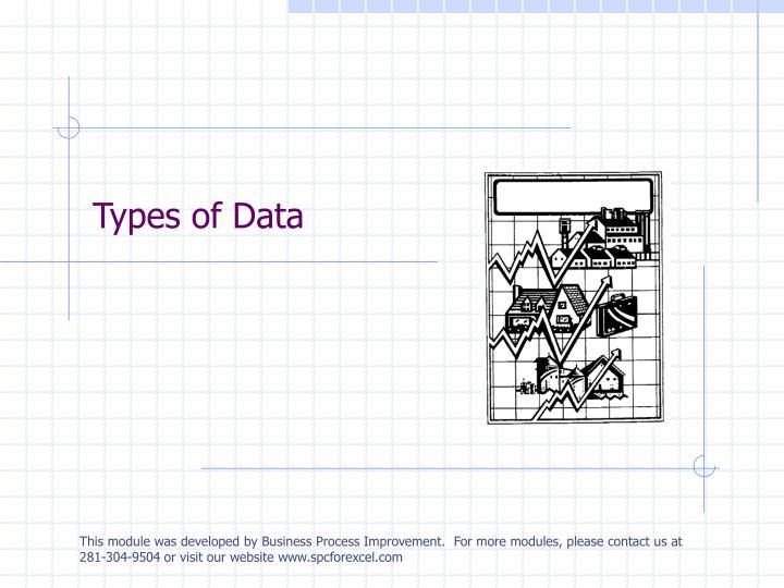 types of data n.