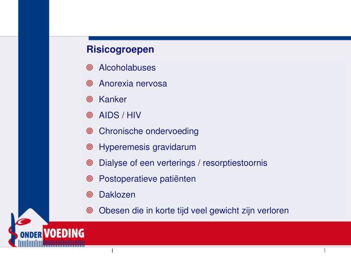 Risicogroepen