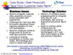 case study fleet financial s real time customer data mgmt
