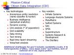mission critical citizen data integration cdi