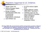 regulatory juggernaut u s initiatives