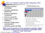why are market leading fsps adopting cdi