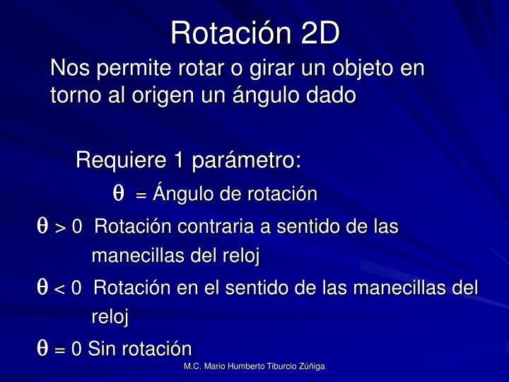 Rotación 2D