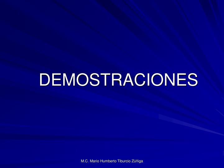 DEMOSTRACIONES