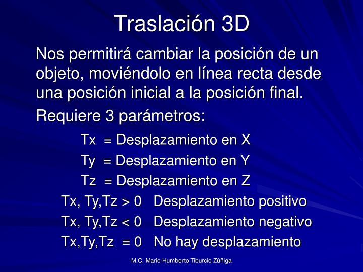 Traslación 3D