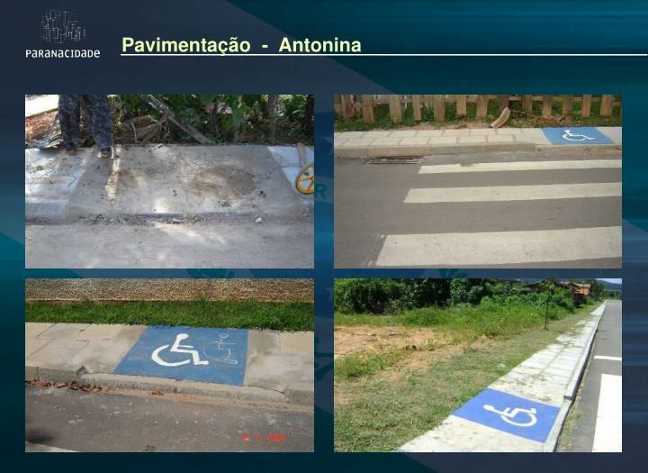 Pavimentação  -  Antonina