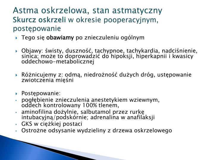 Astma oskrzelowa, stan astmatyczny