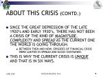 about this crisis contd1