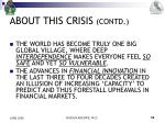 about this crisis contd2